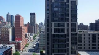 hyper lapse shot of modern city skyline scenery