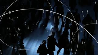 internet data spreading through the air. information network