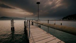 lake view pier time lapse
