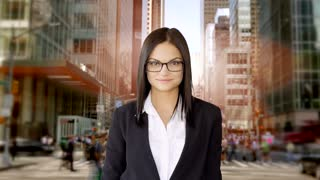 lifestyle portrait of attractive sales women. business career people