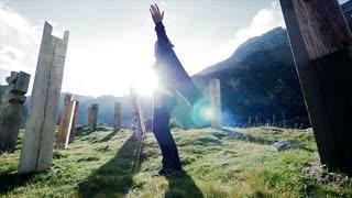 meditation lifestyle. recreational pursuit background. spiritual ceremony