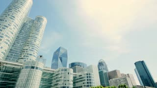 modern city buildings. skyline background. real estate