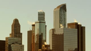 modern high rise buildings. real estate background. office company