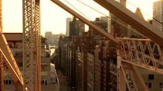 modern real estate background. skyline city scenery. nyc scene from above