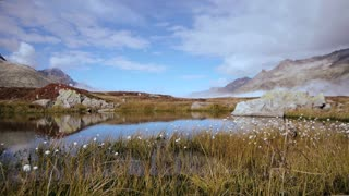 mountain lake. beautiful landscape. alps rocks