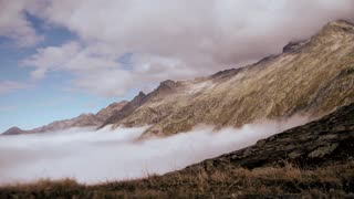 mountains nature. time lapse. beautiful landscape. alps rocks