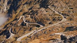 mountains road. time lapse. beautiful landscape. alps rocks