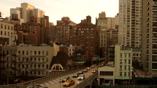 new york city buildings architecture background. aerial view