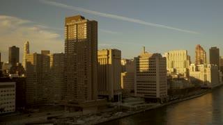 new york city skyline landmark. modern urban high rise buildings. metropolis
