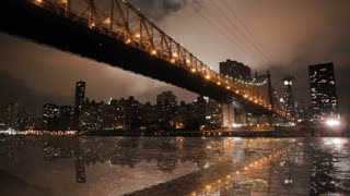 new york time lapse bridge cityscape skyline areal view 1080 HD