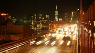 night lights city metropolis background. new york cityscape. skyline panorama