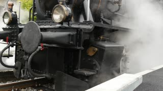 old steam engine train locomotive. nostalgic historical retro vintage technology background
