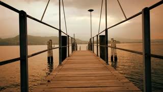 pier bridge lake view