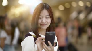 portrait of young asian women facing camera. trendy people lifestyle background