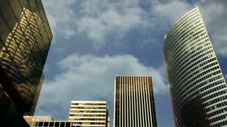 skyline city panorama view. modern urban scenery