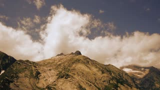 time lapse mountains and clouds