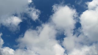 time lapse of clouds moving - cloudscape sky - heaven