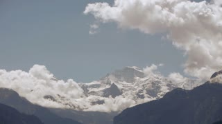 time lapse snow mountains glaciers clouds