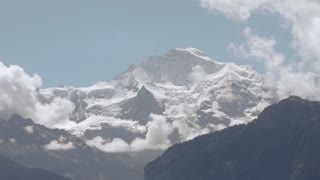 time lapse snow mountains glaciers