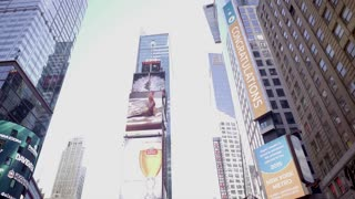 Times square in new york city. tourism people background. Shot on Red Epic