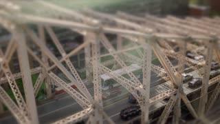 traffic commuting over bridge road. cars transportation