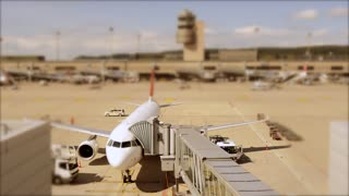 transportation background - traveling tour - airplane airport - time lapse