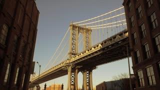 urban architecture background. bridge and buildings.
