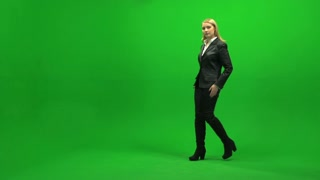 confident young business women isolated on greenscreen