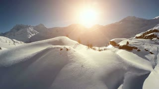 snow covered winter landscape scenery. outdoors nature adventure background