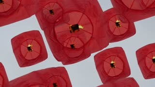 wedding marriage ceremony - love background - lanterns flying