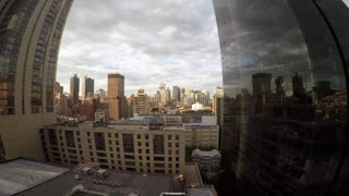 wide angle city metropolis panorama scenery. aerial shot