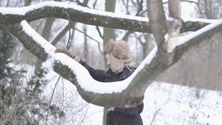 women touching snow winter time slow motion