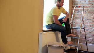 couple decorating their new flat