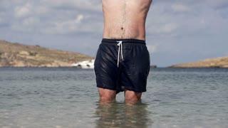 Man jumping into the sea, slow motion shot at 240fps