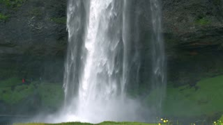 Seljalandsfoss waterfall, one of the biggest waterfalls in Iceland drop of 60 m