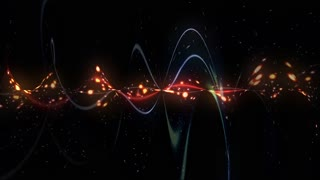 Abstract Wavy Space Lights