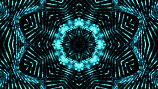 Authentic Blue Glittering Kaleida