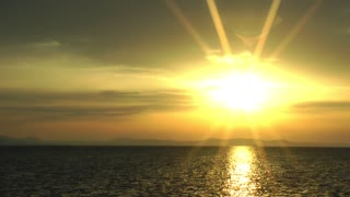 Beautiful heavenly sunset