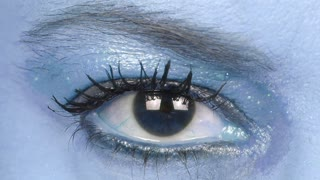 Beautiful Woman Eye in blue