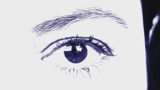 Beautiful  Woman Eye with smooth blue white effect