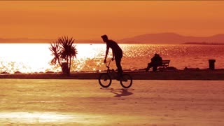 Bike Acrobatics  at Sunset 2