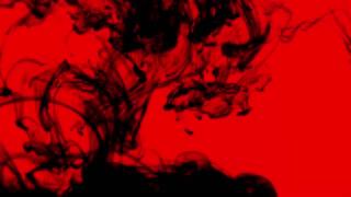 Black Ink Smoke on Red