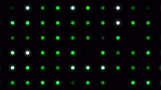 Blinking green led lights