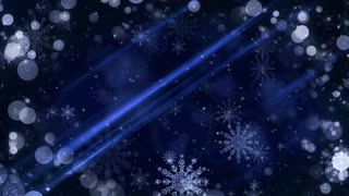 Blue Christmas Background with Snow Flakes