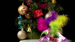 Christmas tree and party mask