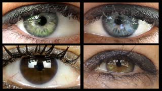 Collage of woman eyes