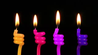 Colorful Celebration Candles 2