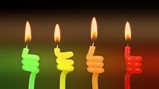 Colorful Celebration Candles 3