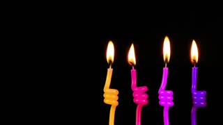 Colorful Celebration Candles