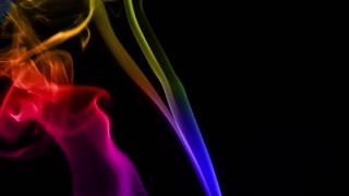 Colorful Silky Smoke on Black Background